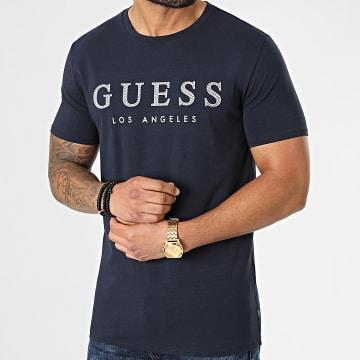 Guess - Tee Shirt M01I54J1300 Bleu Marine