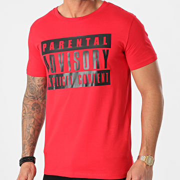 Parental Advisory - Tee Shirt Logo Rouge Noir