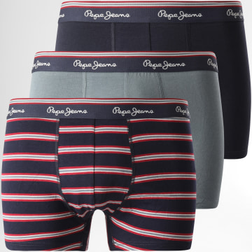 Pepe Jeans - Lot De 3 Boxers PMU10700 Bleu Marine