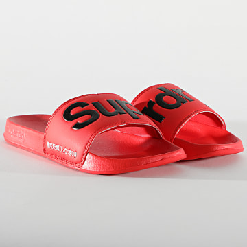Superdry - Claquettes Classic Pool Side MF310008A Rouge