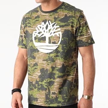 Timberland - Tee Shirt AOP Tree A2FN8 Vert Kaki