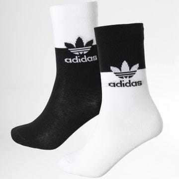 Adidas Originals - Lot De 2 Paires De Chaussettes Blocked GN4911 Noir Blanc