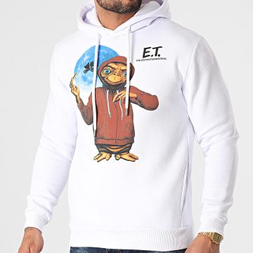 E.T. L'Extraterrestre - Sweat Capuche Hoodie Blanc
