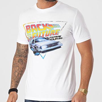 Back To The Future - Tee Shirt Outatime Tour Blanc