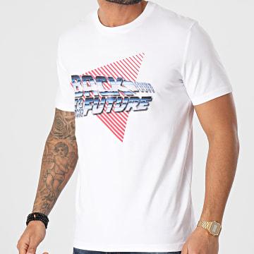 Back To The Future - Tee Shirt Chrome Blanc