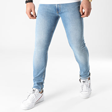 Jack And Jones - Jean Slim Liam Original Bleu Denim