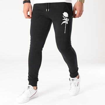 Luxury Lovers - Pantalon Jogging Mono Noir Blanc