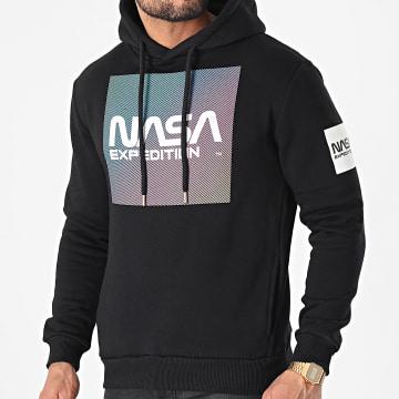 NASA - Sweat Capuche Gradient Block Noir