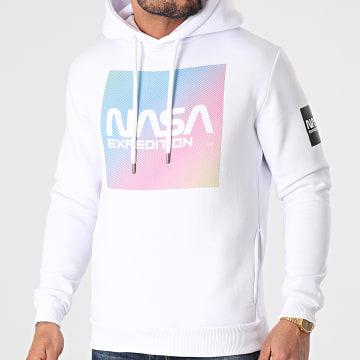 NASA - Sweat Capuche Gradient Block Blanc