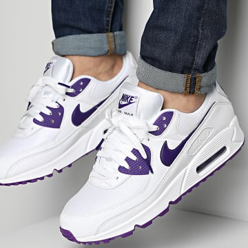 Nike - Baskets Air Max 90 CT1028 White Voltage Purple Black