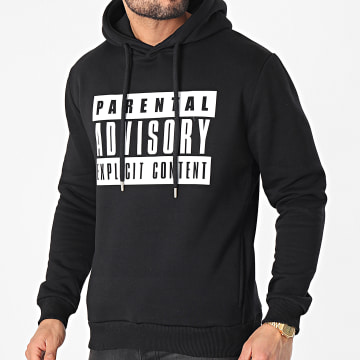 Parental Advisory - Sweat Capuche Logo Noir