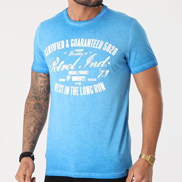 Petrol Industries - Tee Shirt 607 Bleu Clair Chiné