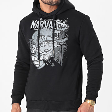 Swift Guad - Sweat Capuche Narval Oh Noir