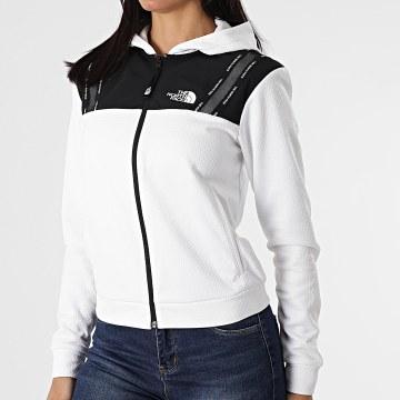 The North Face - Veste Zippée Capuche Femme A5565FN4 Blanc Noir