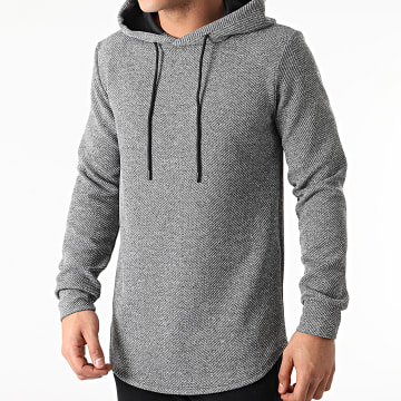 Uniplay - Sweat Capuche Oversize UY566 Gris Chiné