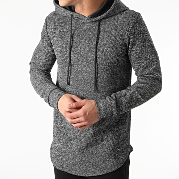 Uniplay - Sweat Capuche Oversize UY566 Gris Anthracite Chiné