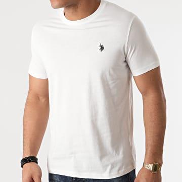 US Polo ASSN - Tee Shirt DBL Horse Logo Blanc