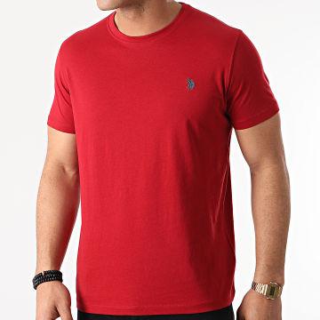 US Polo ASSN - Tee Shirt DBL Horse Logo Bordeaux