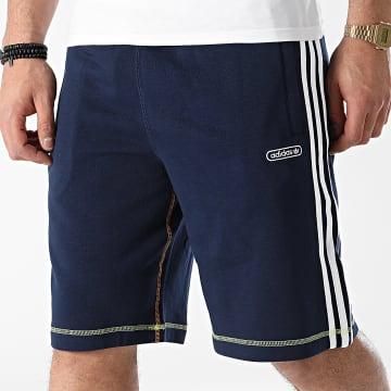 Adidas Originals - Short Jogging A Bandes Contrast Stitch GN3884 Bleu Marine