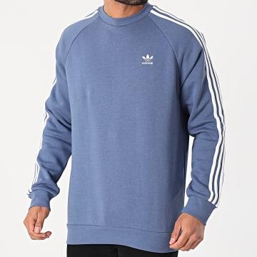 Adidas Originals - Sweat Crewneck A Bandes 3 Stripes GN3482 Bleu Clair