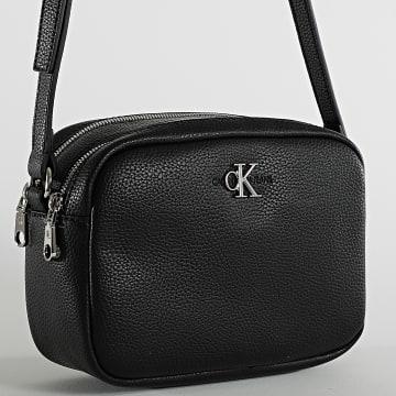 Calvin Klein - Sac A Main Femme Double Zip Crossbody 7479 Noir