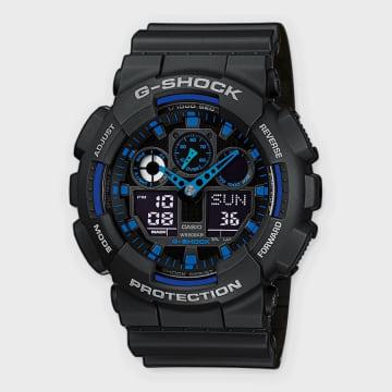 Casio - Montre G-Shock GA-100-1A2ER Noir Bleu
