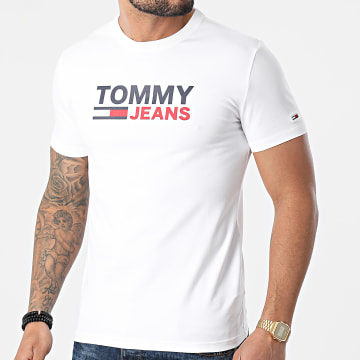 Tommy Jeans - Tee Shirt Corp Blanc