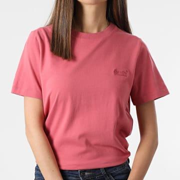 Superdry - Tee Shirt Femme Orange Label Classic Rose