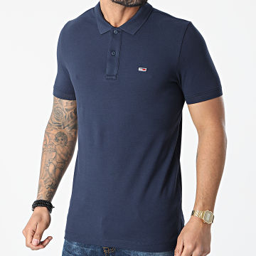 Tommy Jeans - Polo Manches Courtes Classics Solid Stretch 9439 Bleu Marine