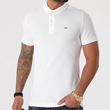 Tommy Jeans - Polo Manches Courtes Classic Solid 9439 Blanc