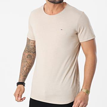 Tommy Jeans - Tee Shirt Slim Jaspe 9586 Beige Chiné