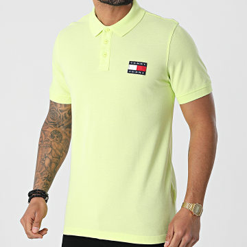 Tommy Jeans - Polo Manches Courtes Tommy Badge 0327 Vert Clair