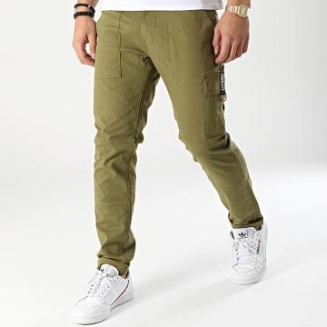 Tommy Jeans - Pantalon Cargo Scanton Dobby 1281 Vert Kaki