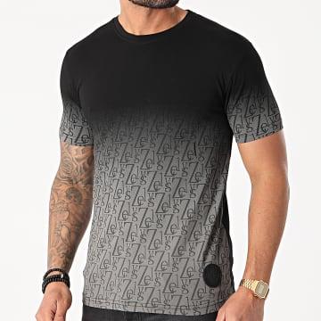Zelys Paris - Tee Shirt Cristiano Noir Gris