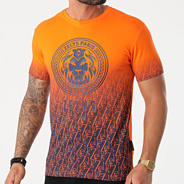Zelys Paris - Tee Shirt Fernanda Orange Bleu Marine