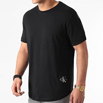 Calvin Klein - Tee Shirt Badge Turn Up Sleeve Noir