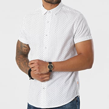 Deeluxe - Chemise Manches Courtes Pagos Blanc Floral
