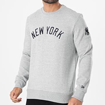 New Era - Sweat Crewneck Script Wordmark New York Yankees 12740951 Gris Chiné
