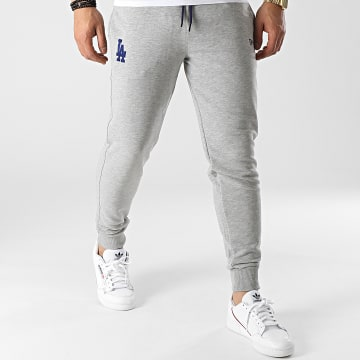 New Era - Pantalon Jogging Los Angeles Dodgers Logo 12740955 Gris Chiné