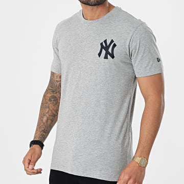 New Era - Tee Shirt Chest Logo New York Yankees 12740958 Gris Chiné