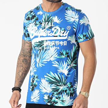 Superdry - Tee Shirt Vintage Logo AOP M1010999A Bleu Roi Floral