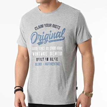 Blend - Tee Shirt 20712080 Gris Chiné