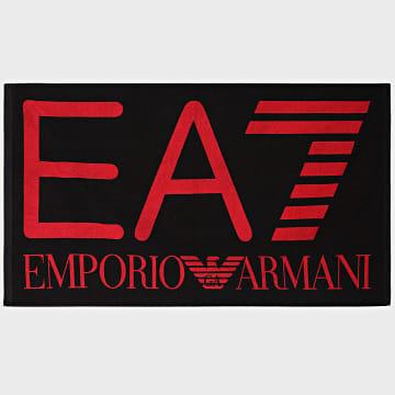EA7 Emporio Armani - Serviette De Bain 904007 Noir Rouge