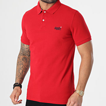 Superdry - Polo Manches Courtes Classic Pique M1110092A Rouge