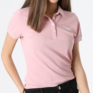 Superdry - Polo Manches Courtes Femme W6010017A Rose