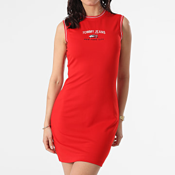 Tommy Jeans - Robe Femme Timeless Script 9936 Rouge