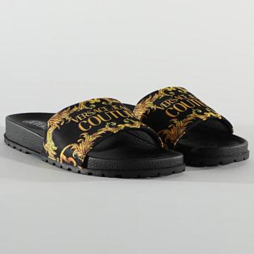 Versace Jeans Couture - Claquettes Linea Fondo Slide E0YWASQ4 Noir Renaissance