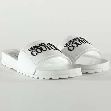 Versace Jeans Couture - Claquettes Linea Fondo Slide E0YWASQ2 Blanc