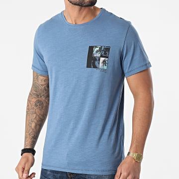 Blend - Tee Shirt 20712078 Bleu Chiné