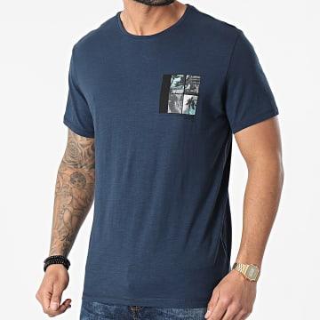 Blend - Tee Shirt 20712078 Bleu Marine